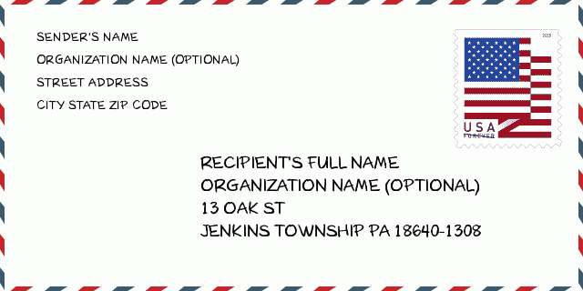 City: JENKINS TOWNSHIP | Pennsylvania United States ZIP Code